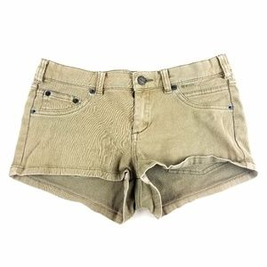 Womens RVCA Khaki Short Shorts Size 27